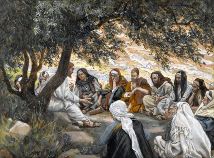 jesus teaching the apostles
